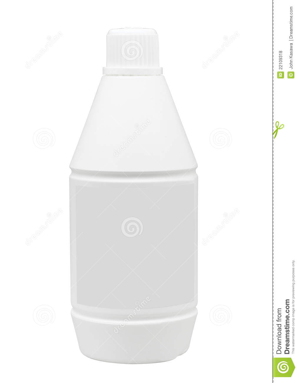 Empty Bottle Without Sign Or Label Royalty Free Stock Photos ...