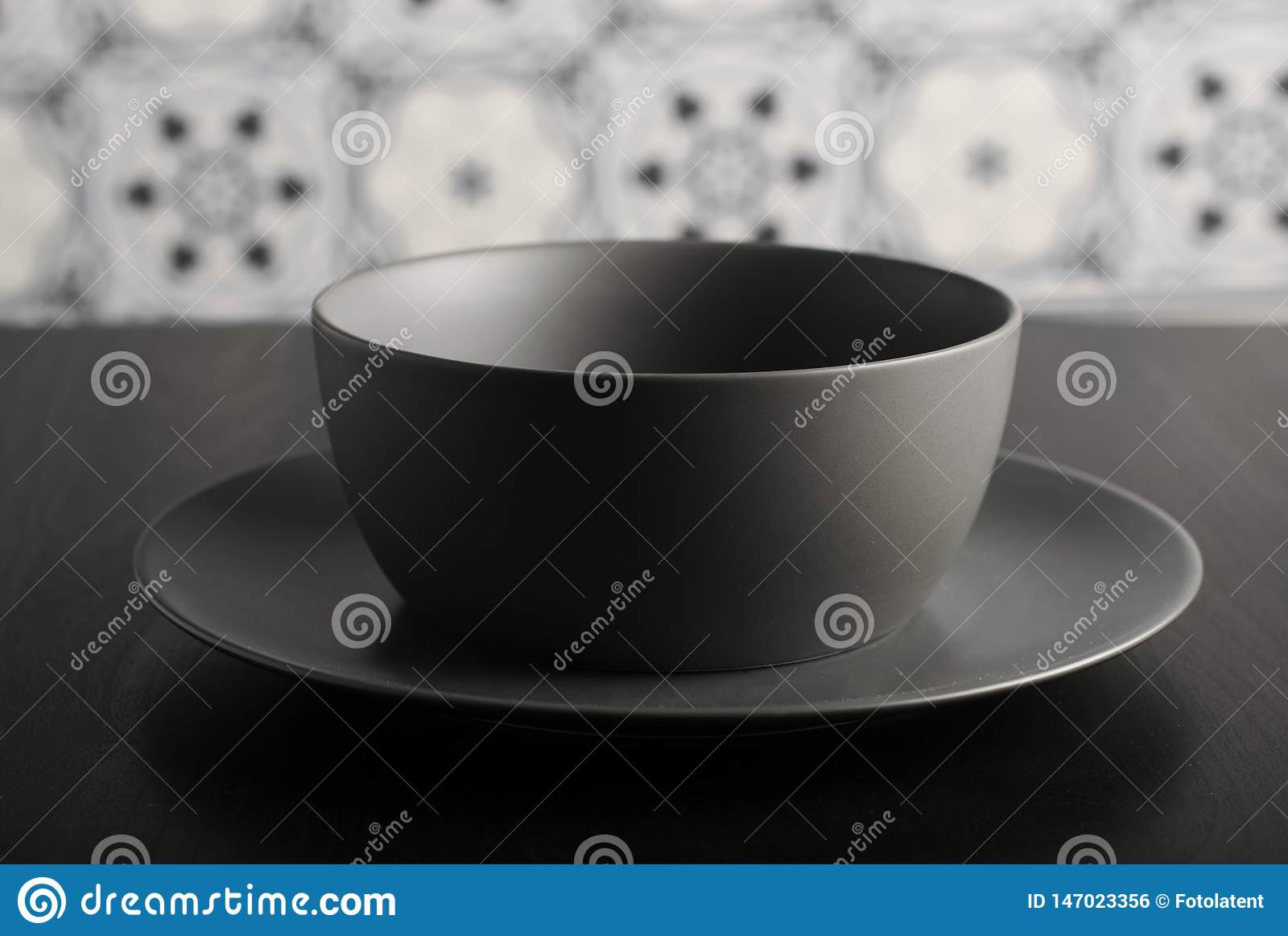 Empty bowl and plate
