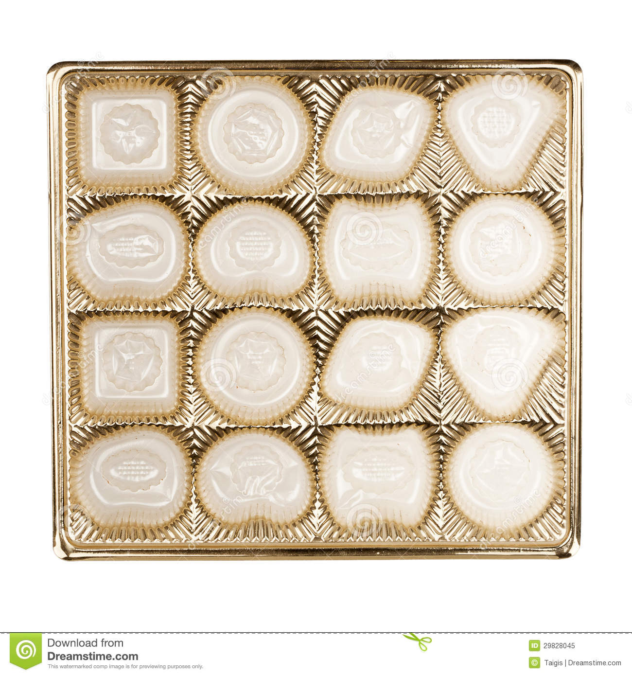 empty box of chocolates stock image image of reuse