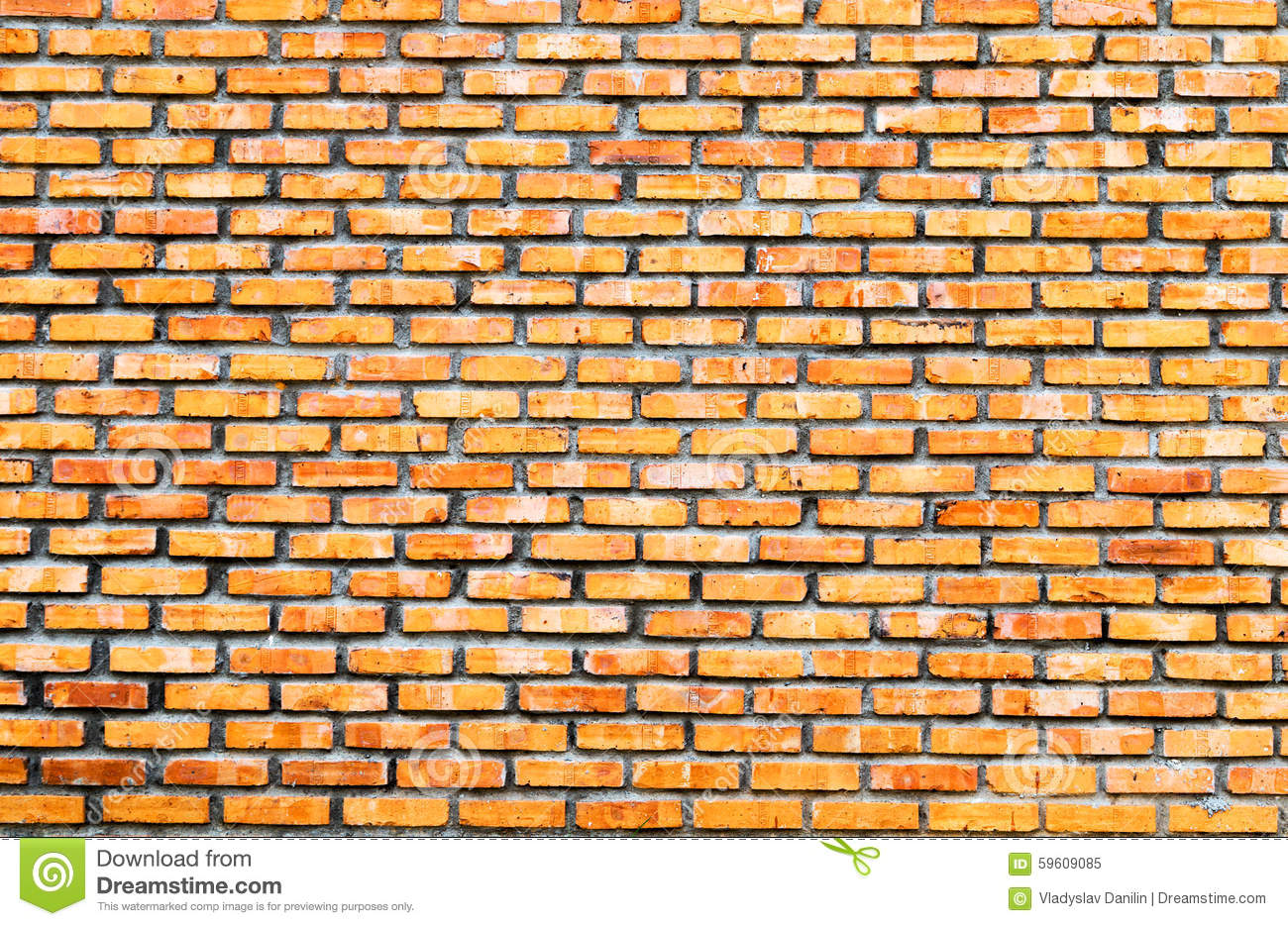 Empty Brick Wall Background Stock Photo - Image: 59609085