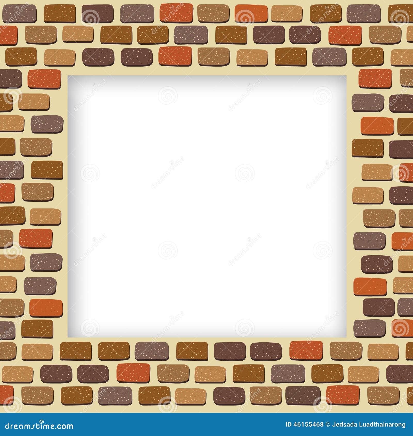 Old brick wall as a frame 01 stock photo image 18377500 - Filename Empty Brick Wall Frame Illustration Bricks 46155468 Jpg