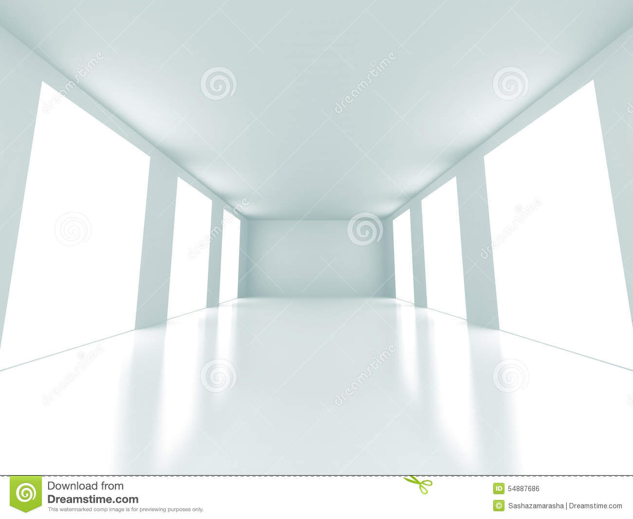 empty bright light room interior architecture background