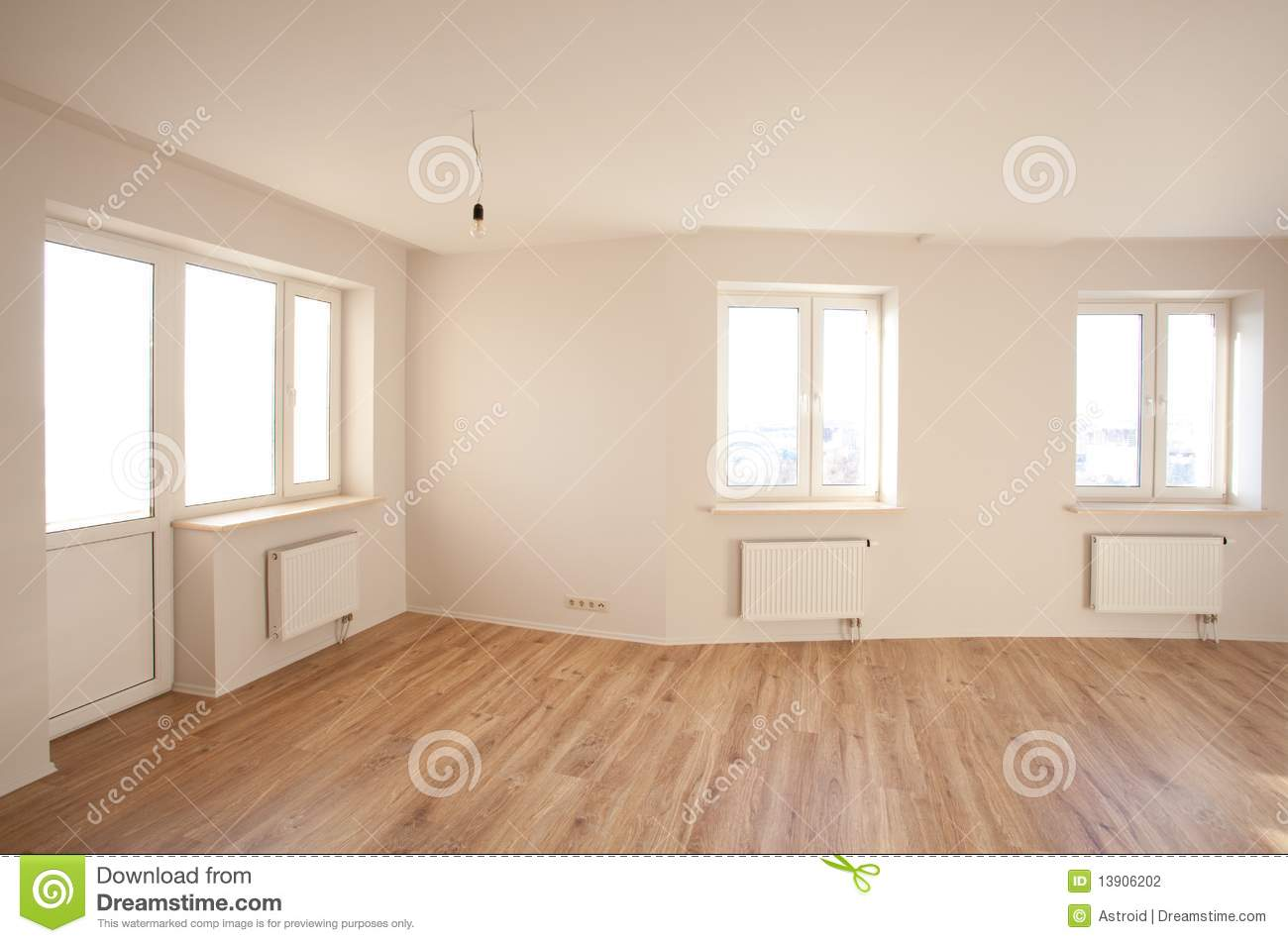 Empty Bright Room With Window Stock Photography Image