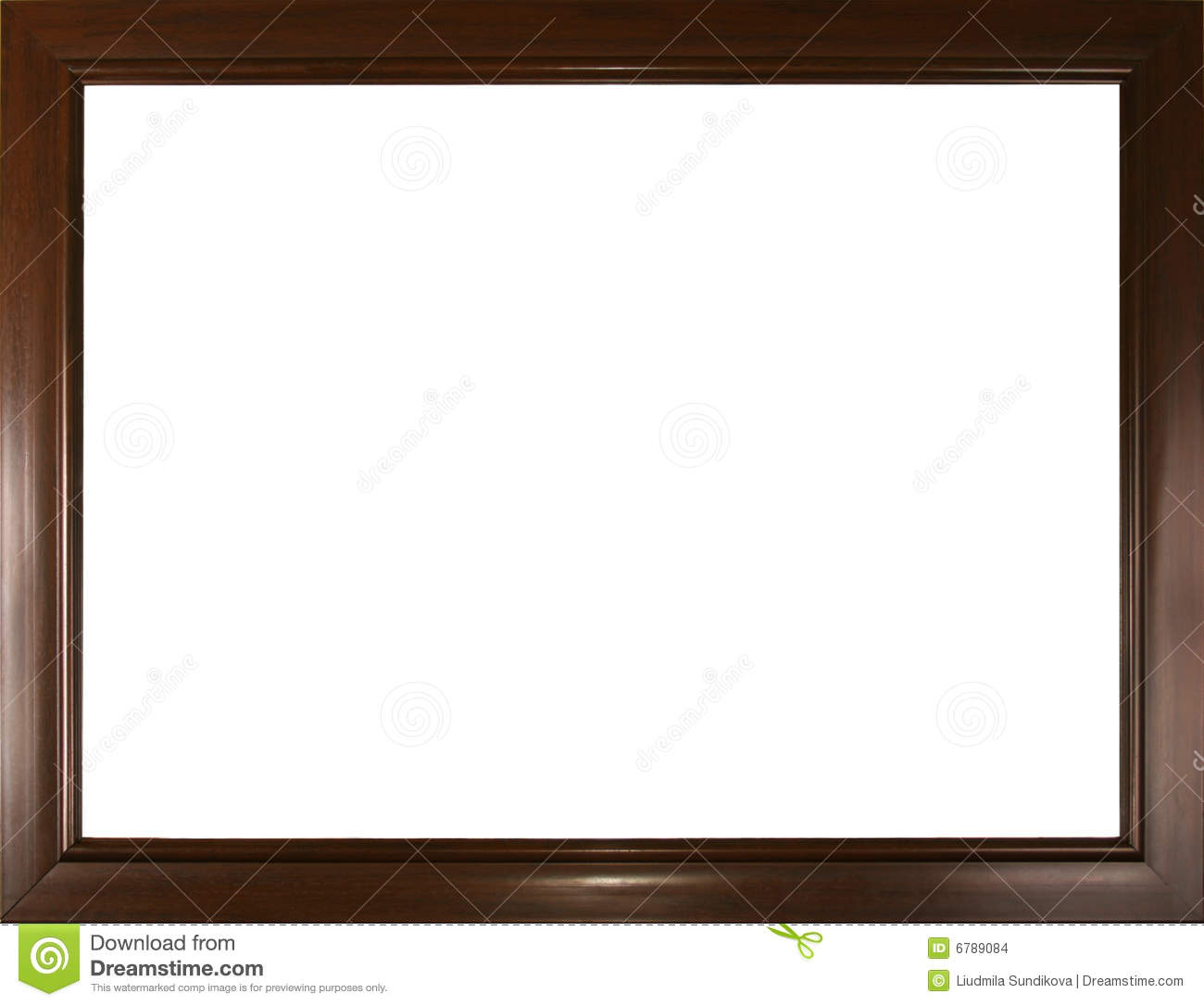 Empty Brown Frame Stock Images