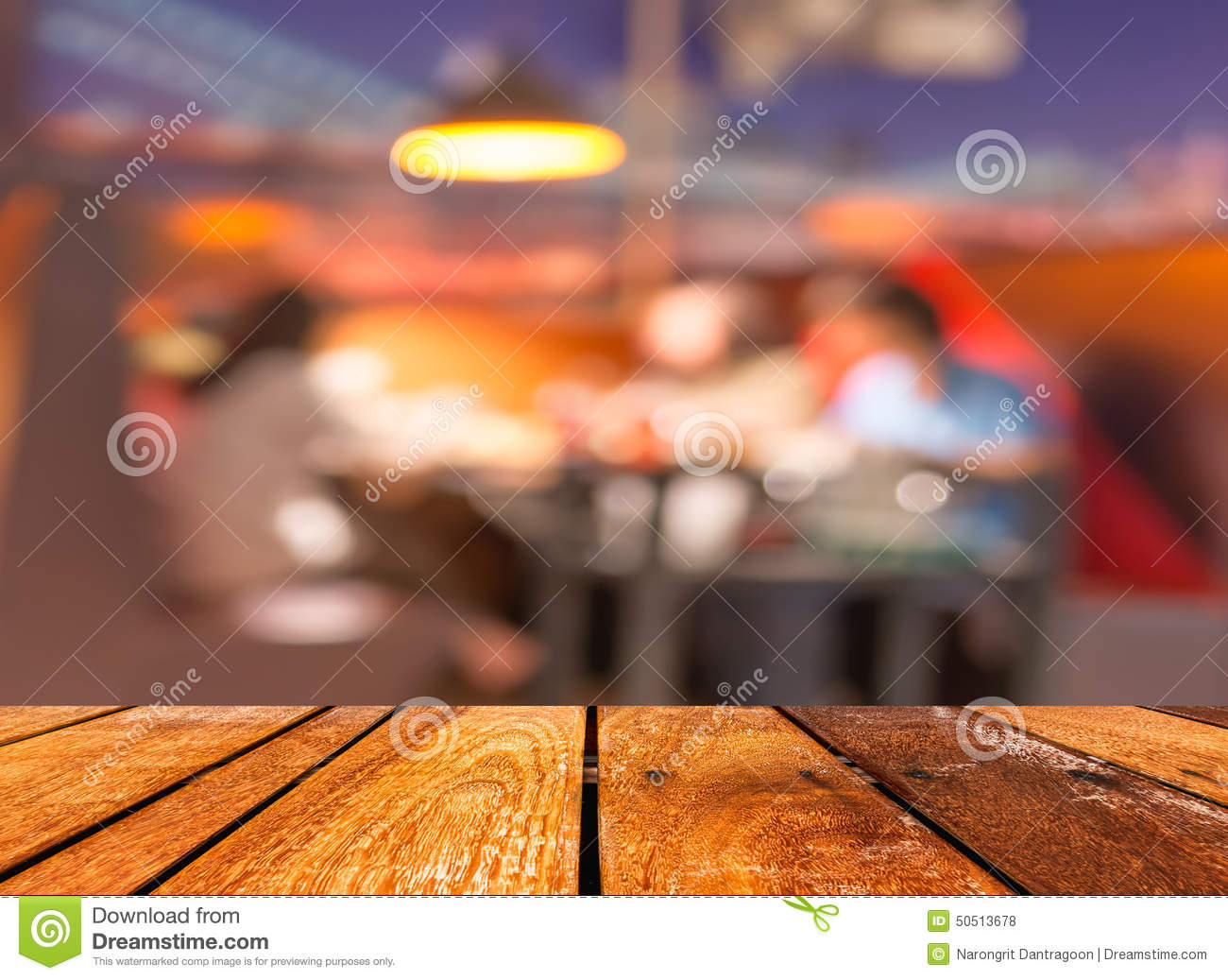 Photo Empty Round Table Top At Coffee Shop Blurred Background With - Empty brown wooden table and coffee shop blur background with bokeh image royalty free stock photos