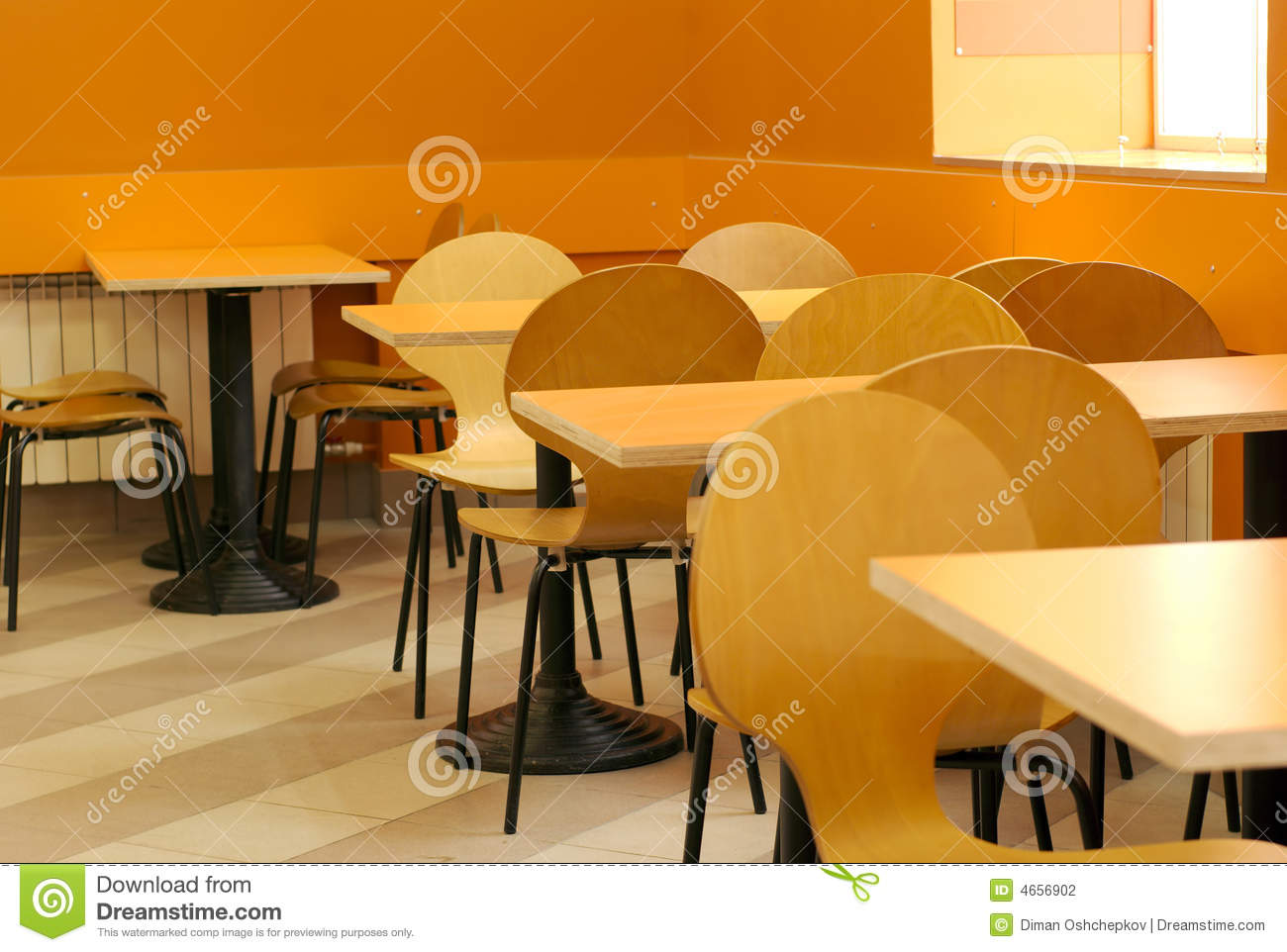 empty cafe interior stock photography - image: 4656902