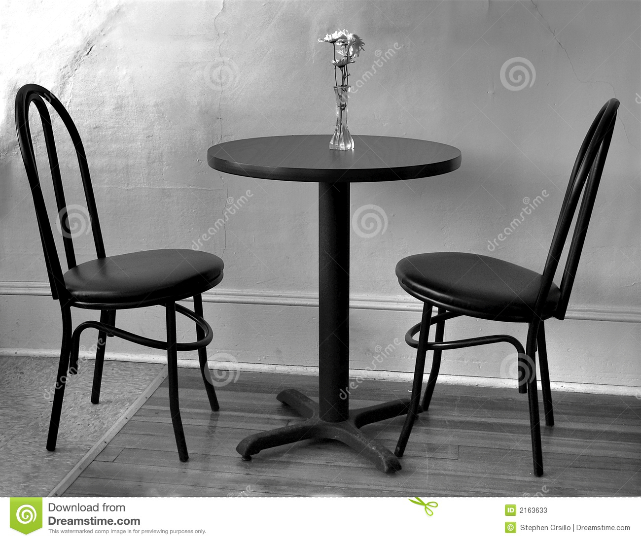 Empty Cafe Table Stock Photos Image 2163633
