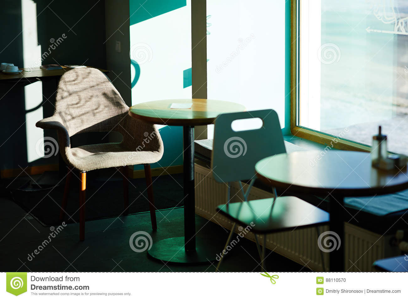 Empty Cafe Table In Sunlight Stock Photo Image Of Area Background - Standing cafe table