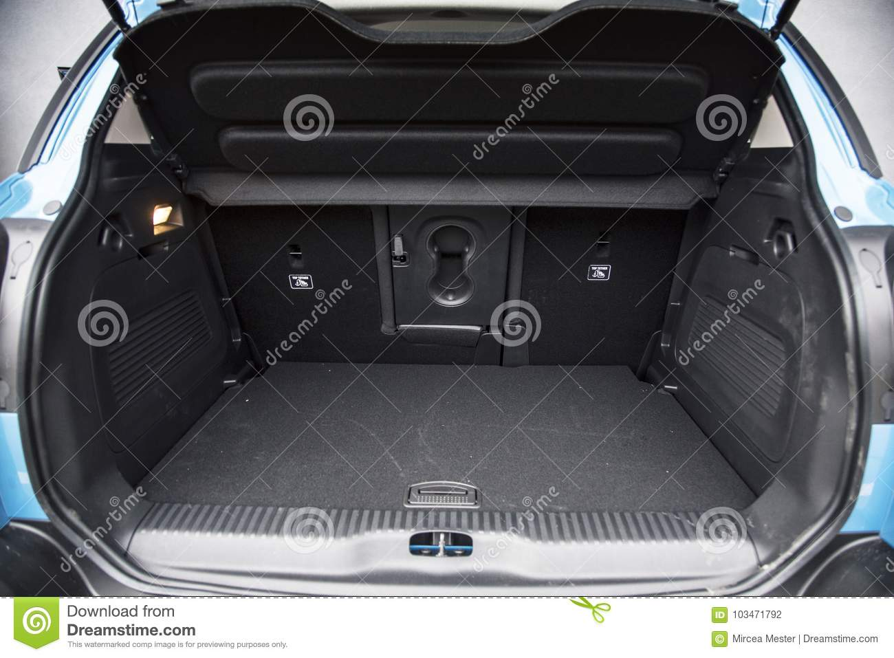 Empty Car Boot With Luggage Space Available Stock Photo - Image of drive,  compartment: 103471792