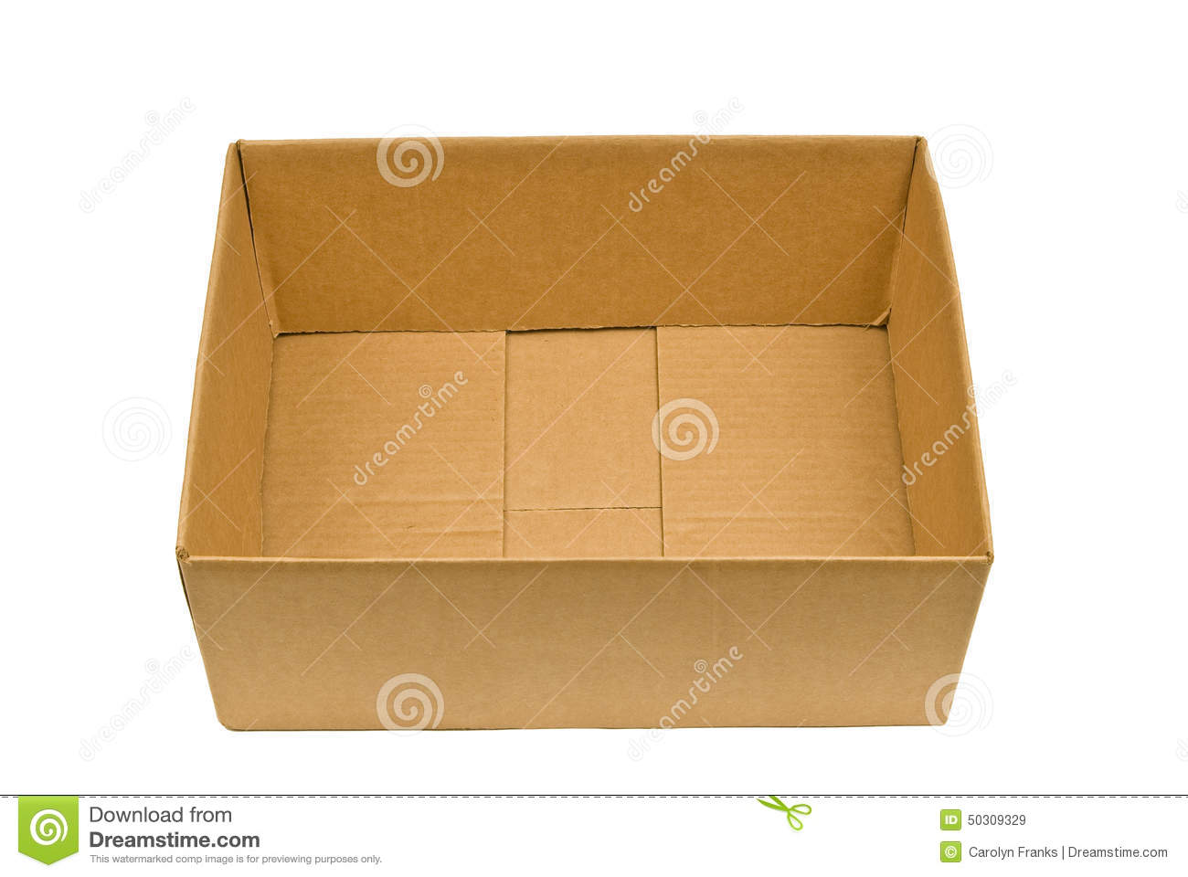 empty cardboard box with lid folded in stock image image 50309329. Black Bedroom Furniture Sets. Home Design Ideas