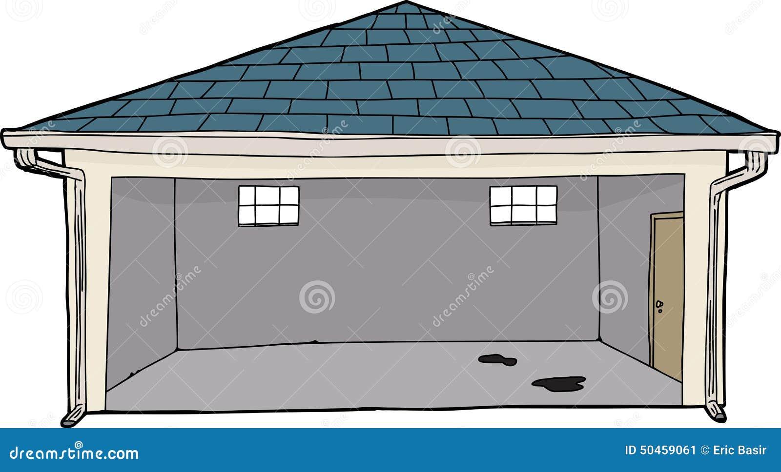 Garage Door Clip Art : Empty cartoon garage stock illustration of