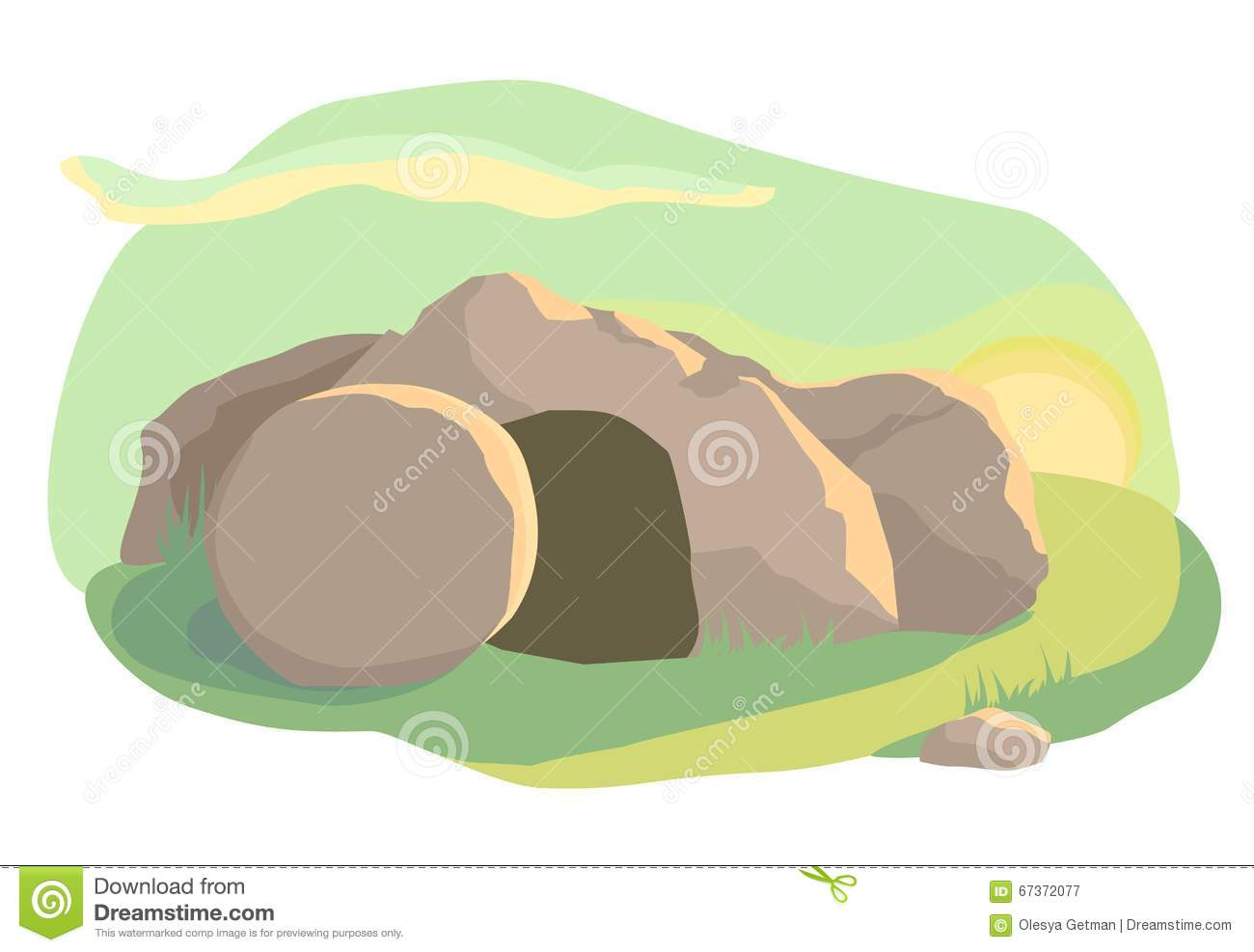 Easter Morning At The Empty Tomb Stock Photo - Image: 85474121