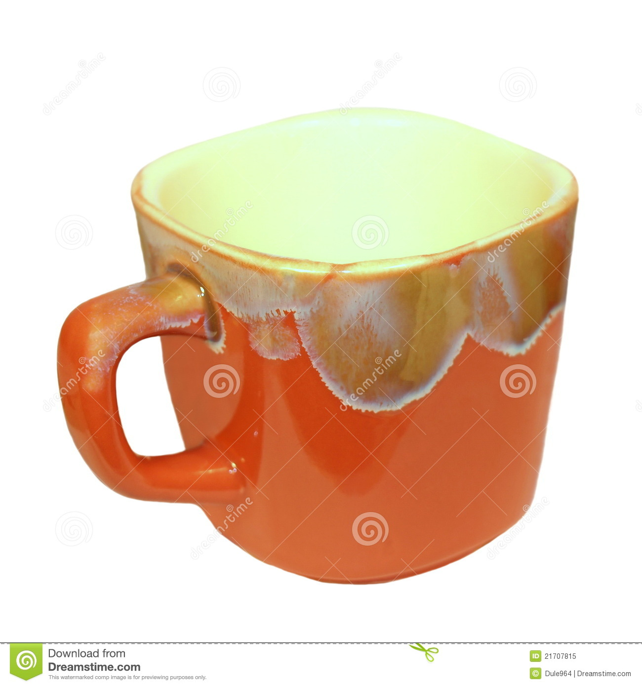 Royalty Free Stock Photo: Empty ceramic coffee cup and tea ...