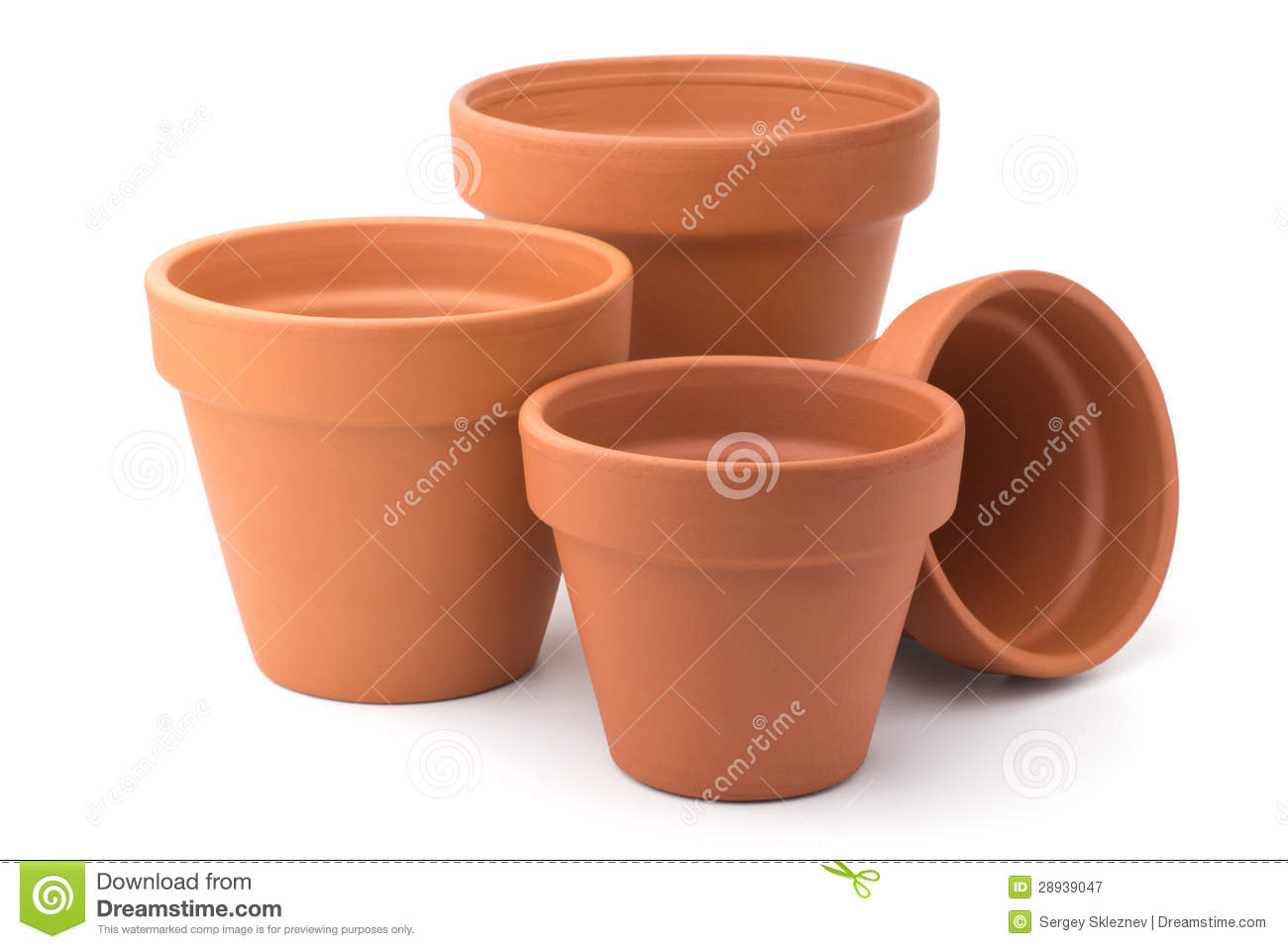 Empty Ceramic Flower Pots Royalty Free Stock graphy Image