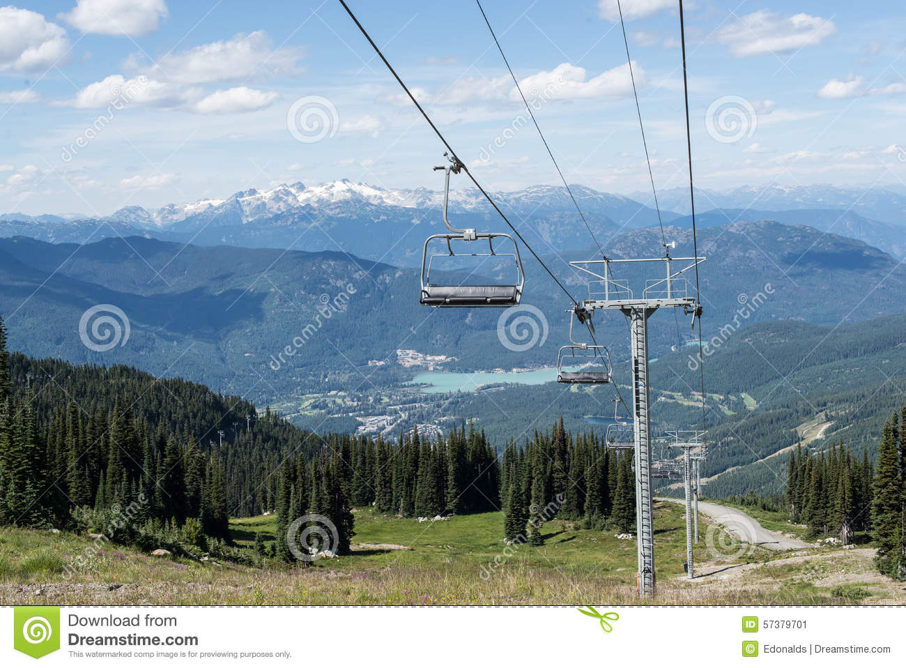 empty chair lift triple empty chair lift stock image image of landscape environment 57379701