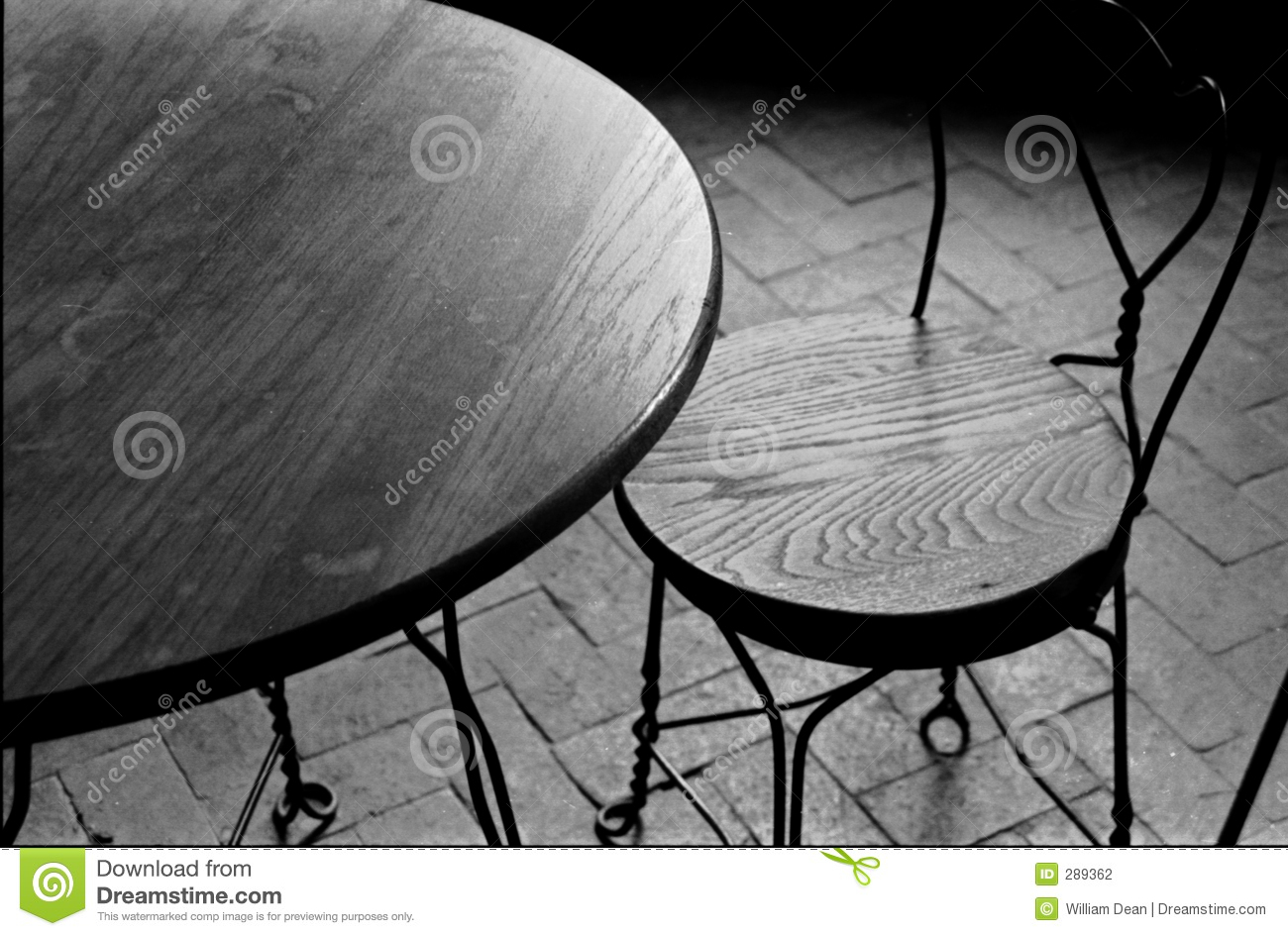 Black and white chair photography - Empty Chair And Table