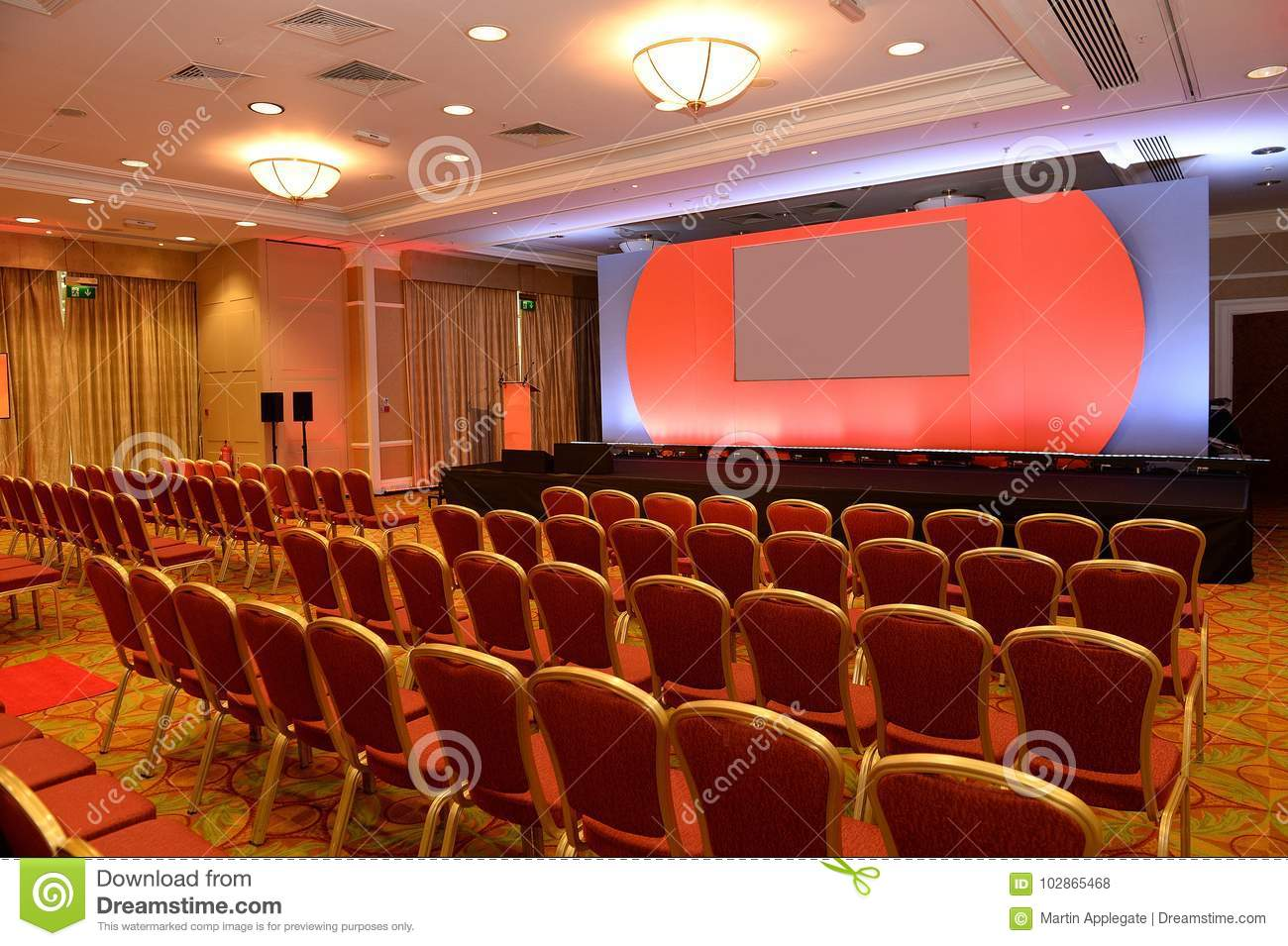 Empty Chairs In Conference Room Stock Photo - Image of meeting ...