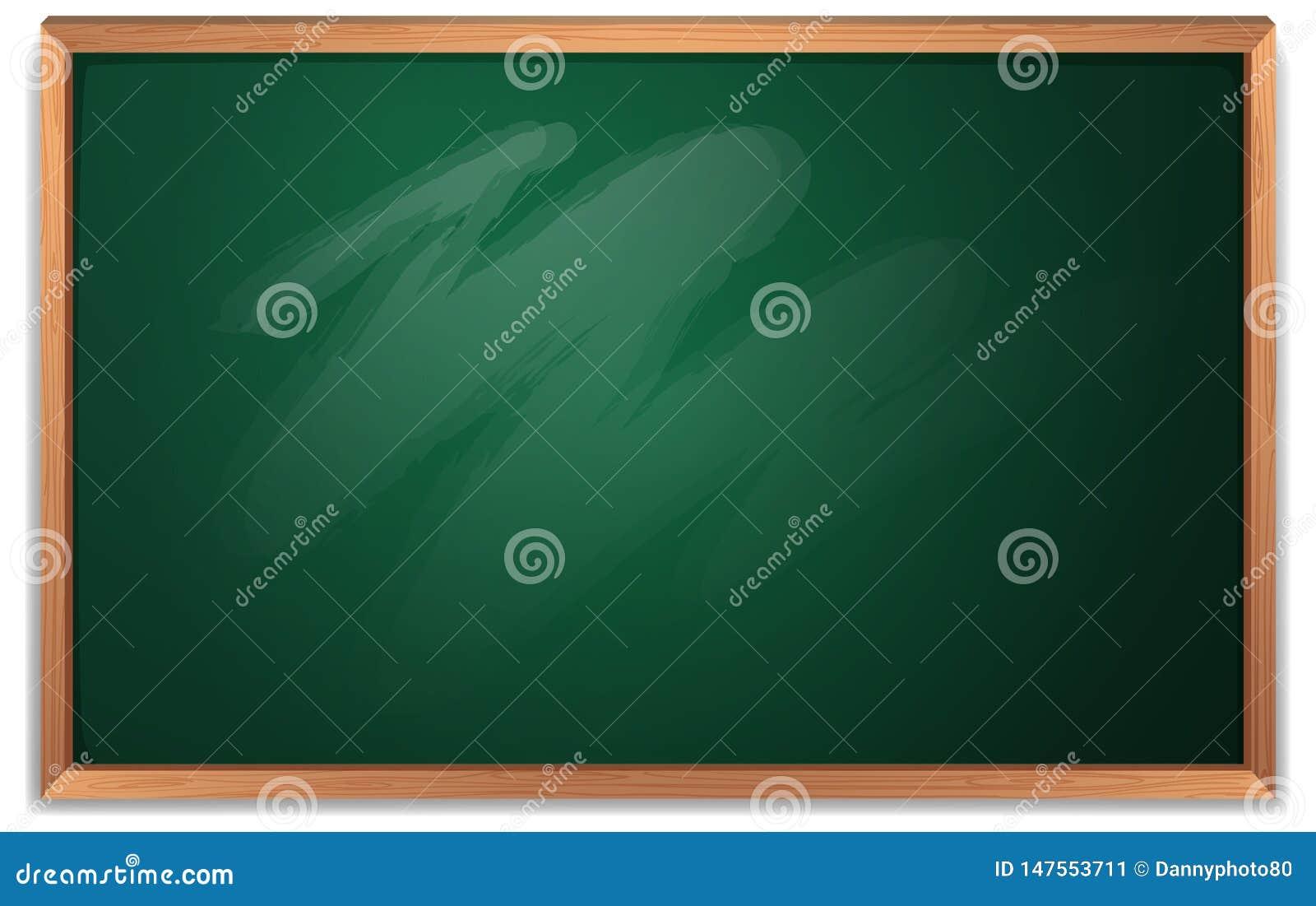 An empty chalkboard template