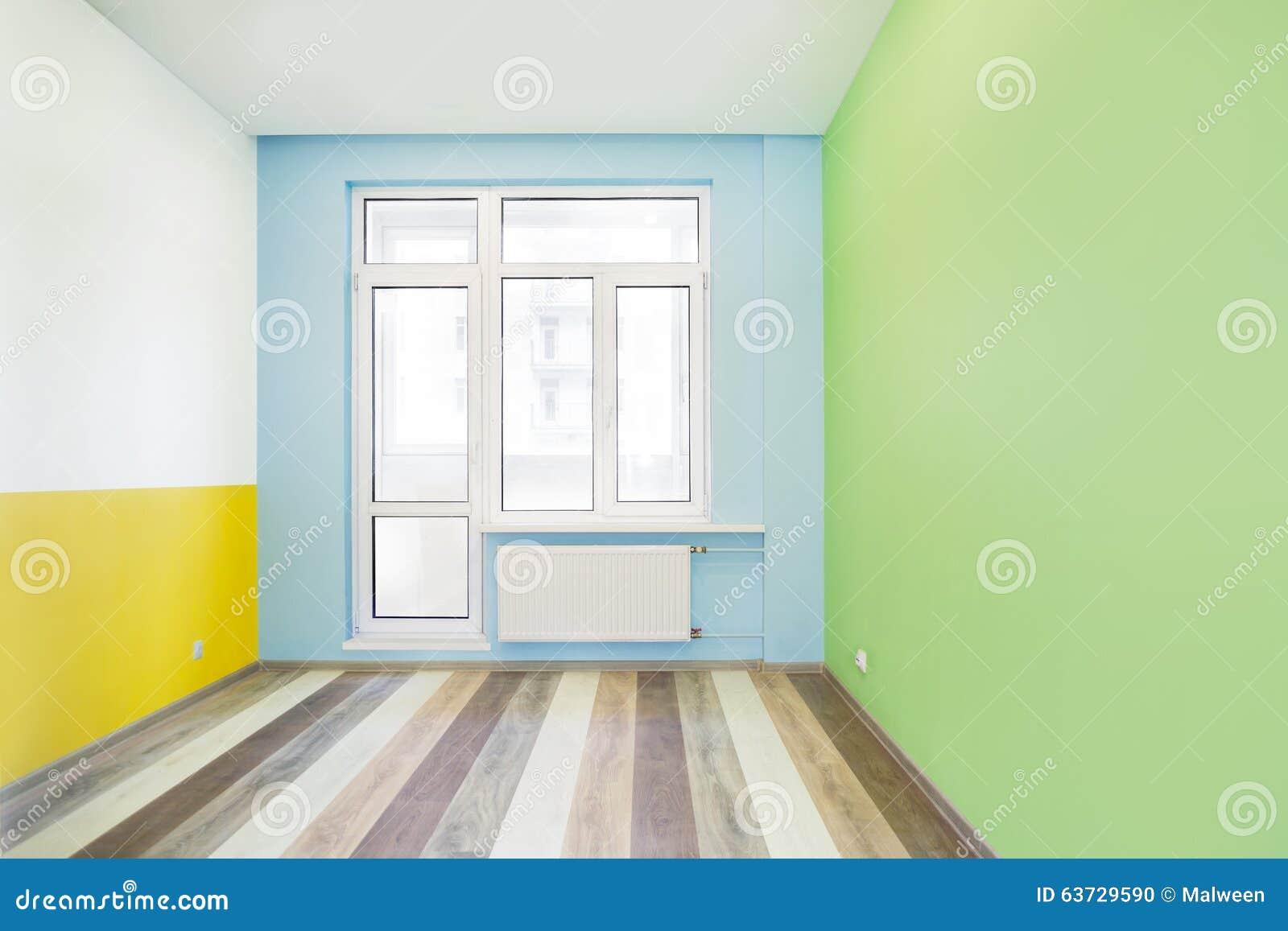 Bright Blue Empty Room