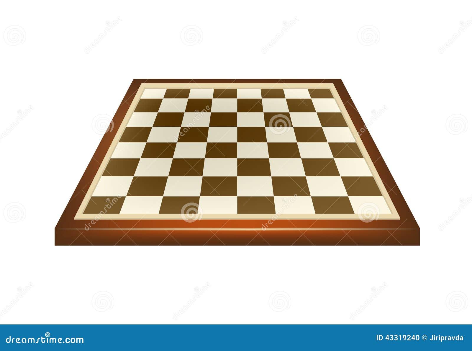 Empty chess board in brown design