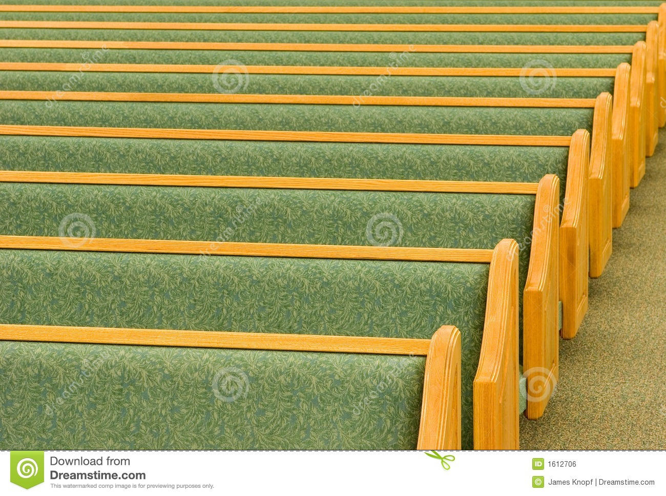 Empty Church Pews Royalty Free Stock Image Image 1612706