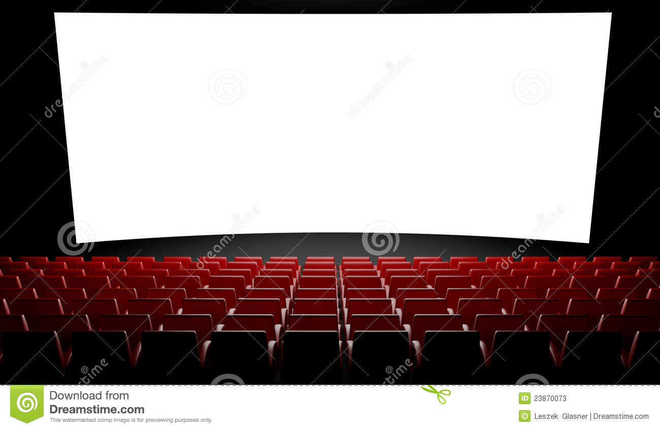 Empty Cinema Screen With Auditorium Stock Photos Image