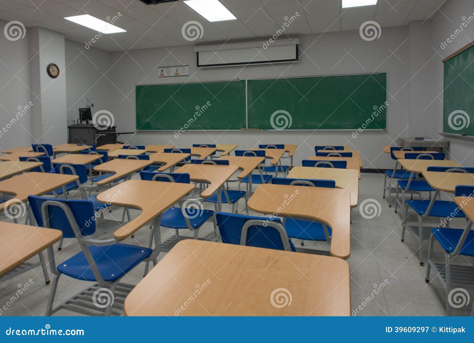 Classroom Blackboard Design ~ Empty classroom stock photo image