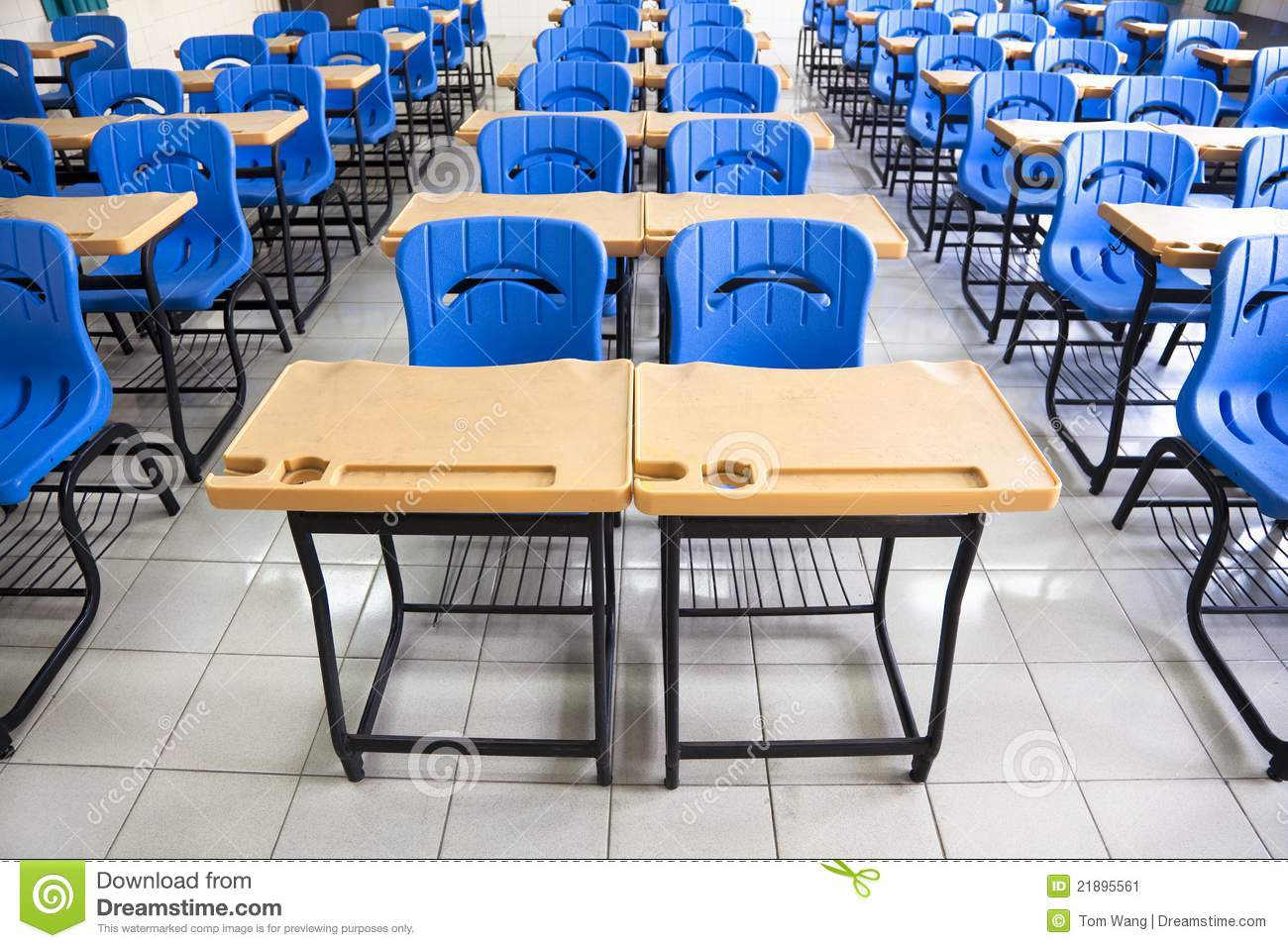 Empty Classroom At School Stock Image Image Of College 21895561 -> Sala De Aula