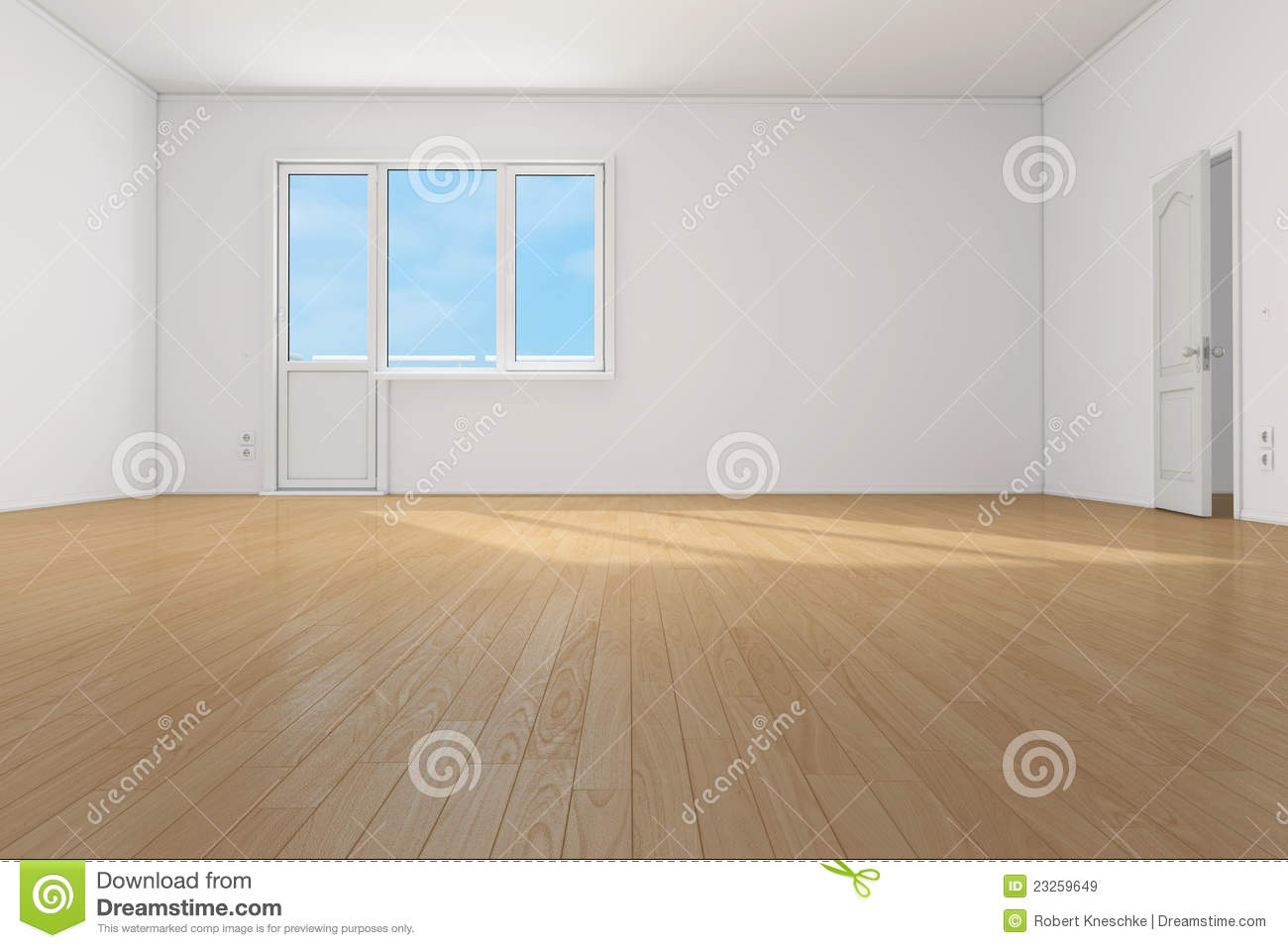 Empty clean room in apartment royalty free stock images image 23259649 for Cost to clean 2 bedroom apartment