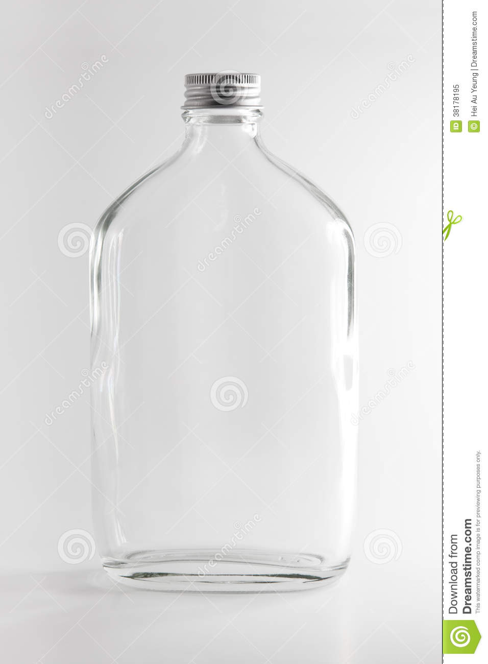 Empty Clear Drinking Water Bottle Studio Shot Isolated On