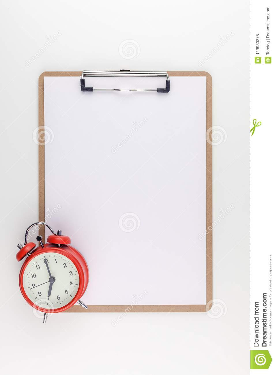 empty clip board with copy space mock up template stock image