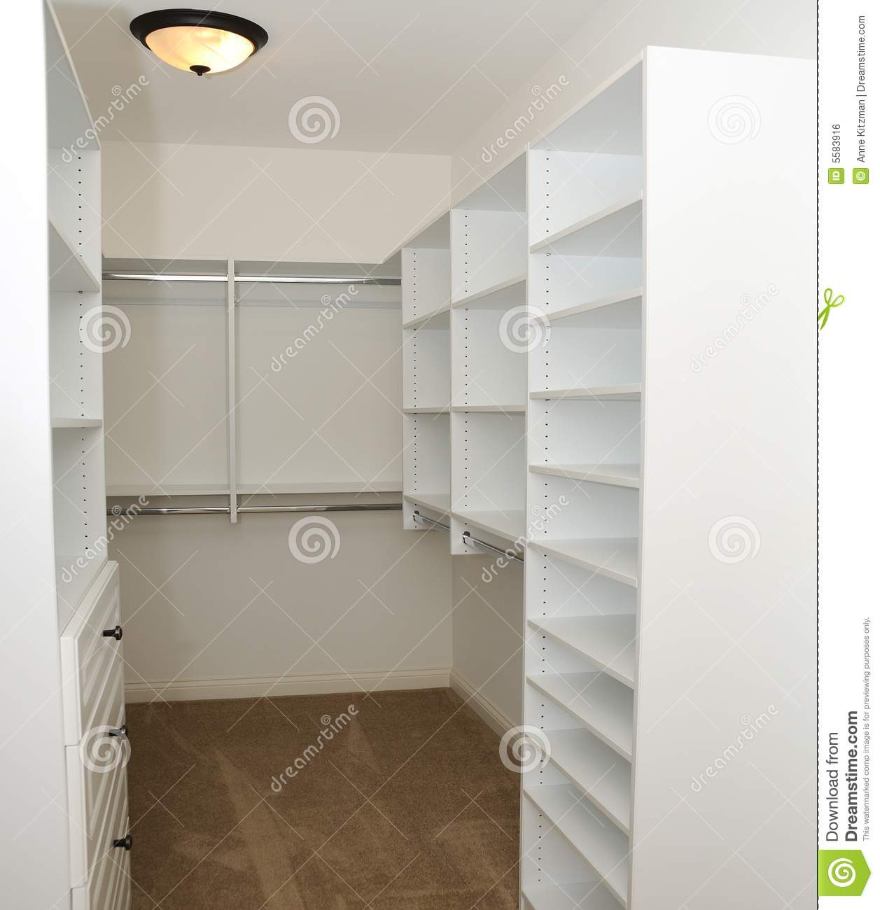 Empty Clothes Closet Stock Photo Image Of Space Closet