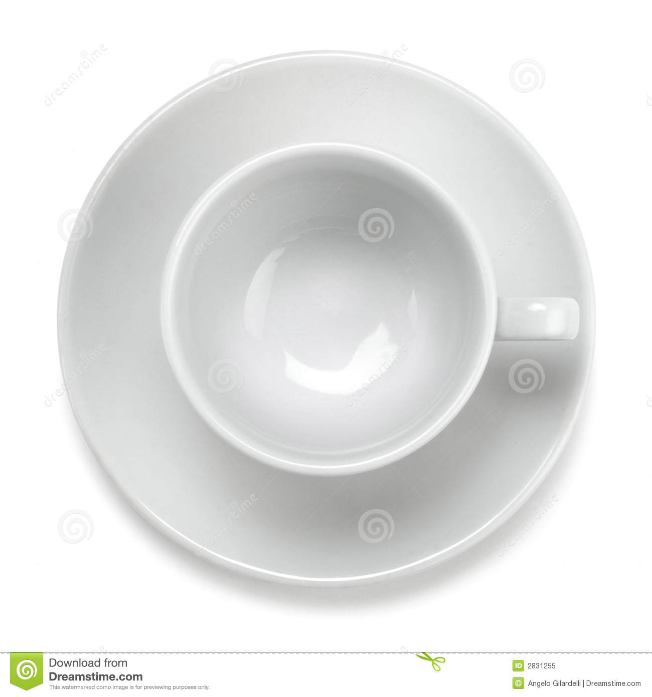 Empty Cup Top : Empty coffee cup royalty free stock photo image