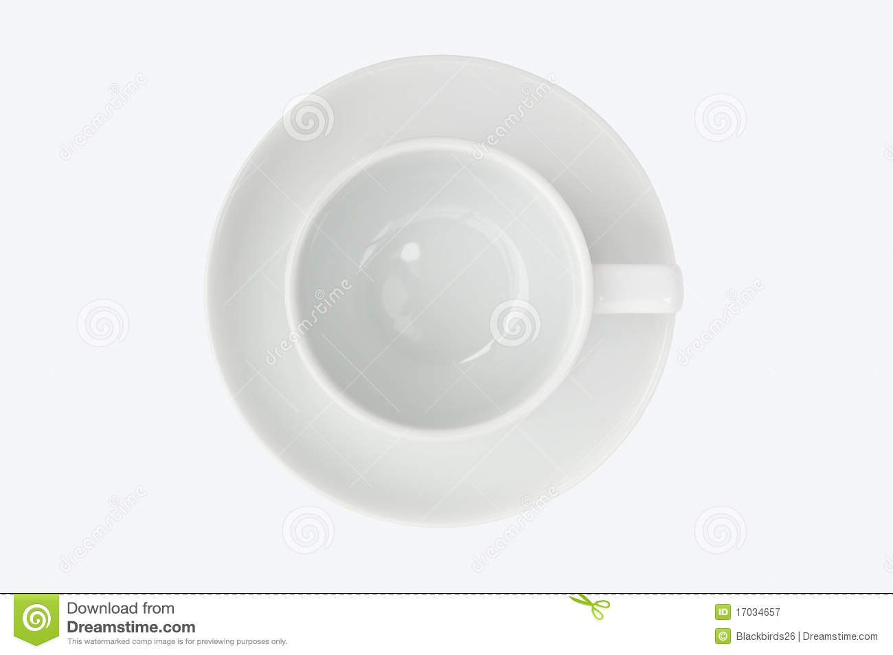 Empty Cup Top : Empty coffee cup top view royalty free stock photography