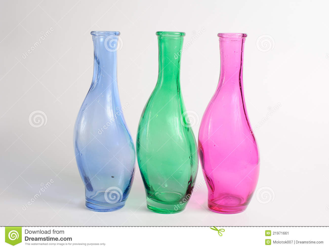 Empty colored wine bottles stock image image 21971661 for How to color wine bottles