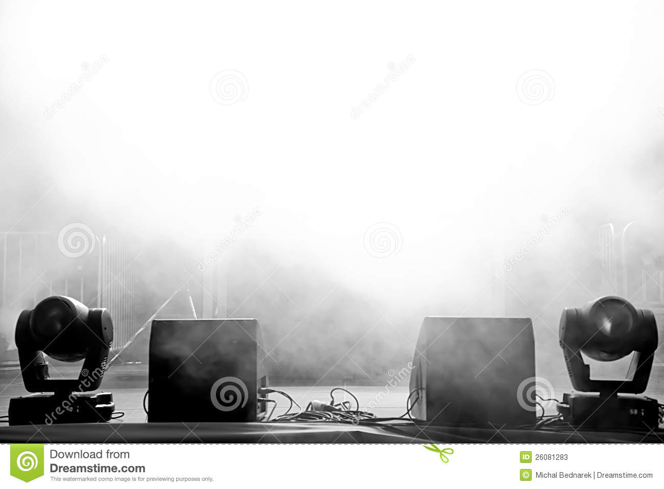 Empty outdoor rock stage - Royalty Free Stock Photo Download Empty Concert