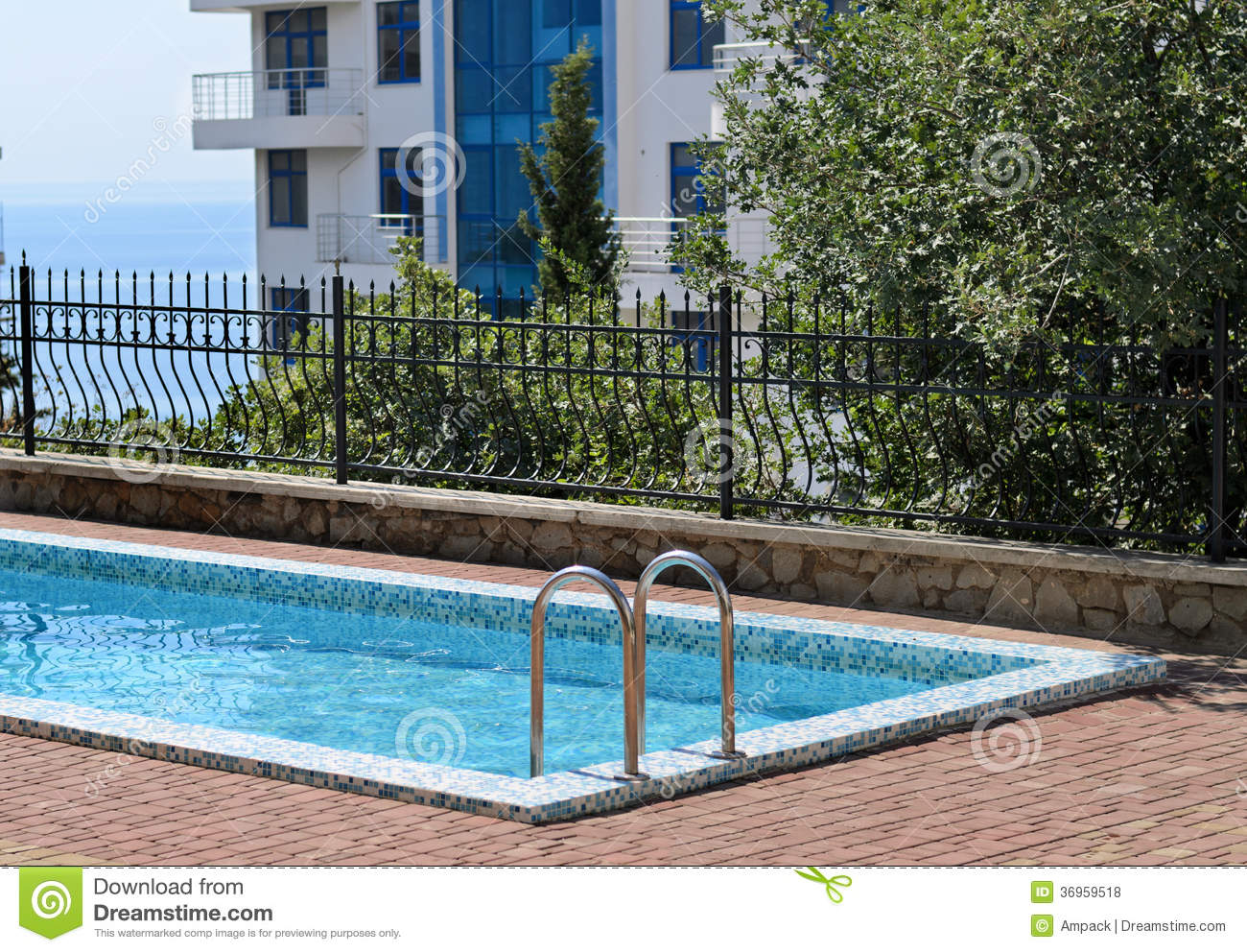 Empty Cool Blue Swimming Pool Royalty Free Stock Photos Image 36959518