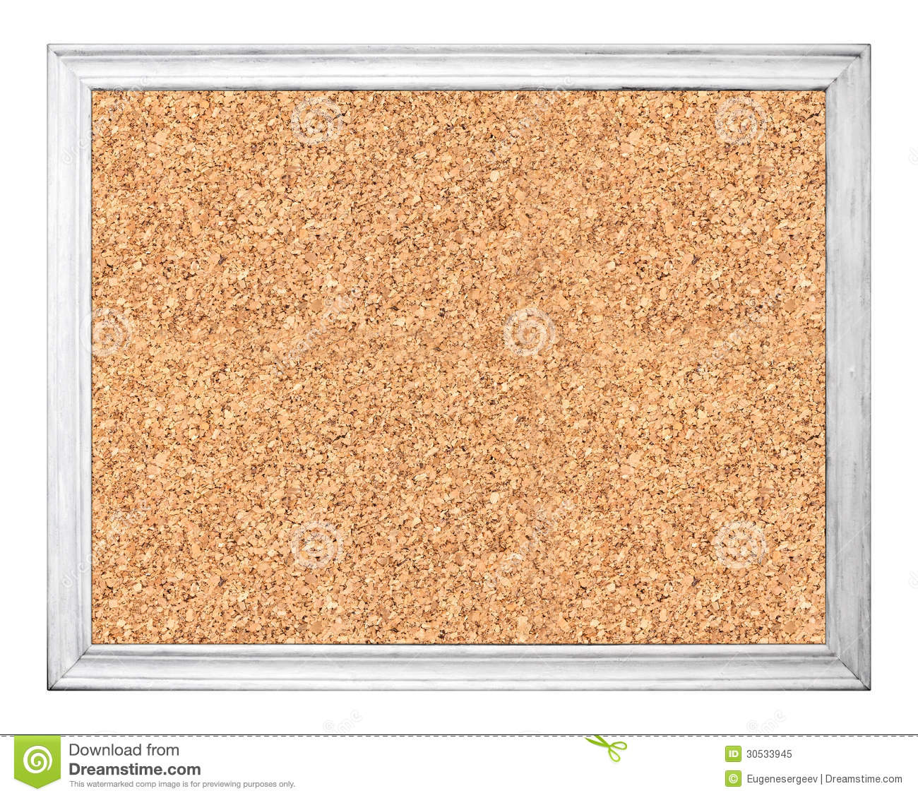 Empty Cork Board In White Wooden Frame Stock Image - Image of ...
