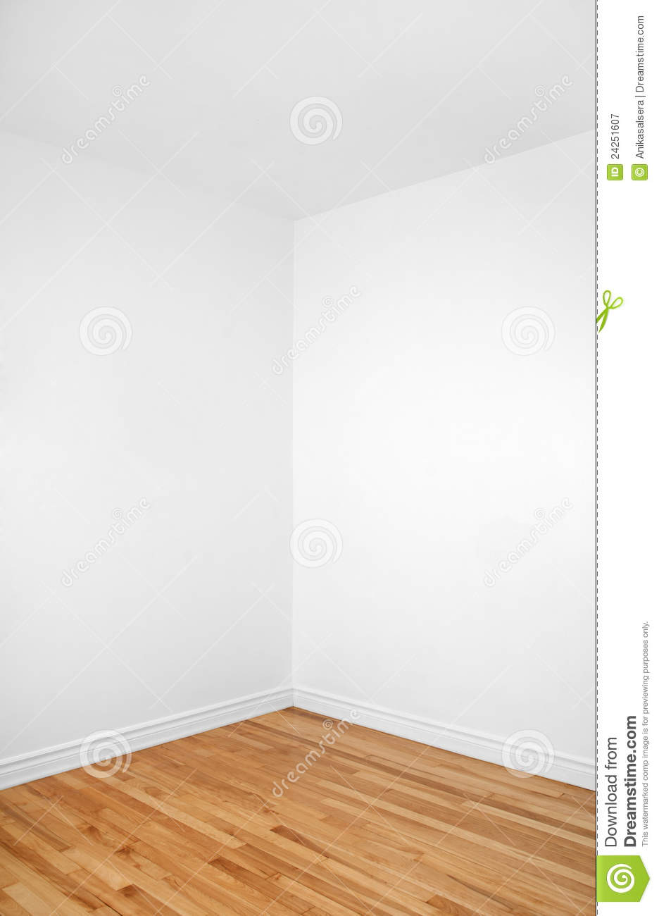 Empty Corner Of A Room With Wooden Floor Royalty Free