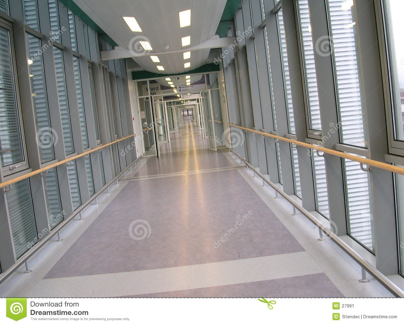 Empty corridor in a hospital