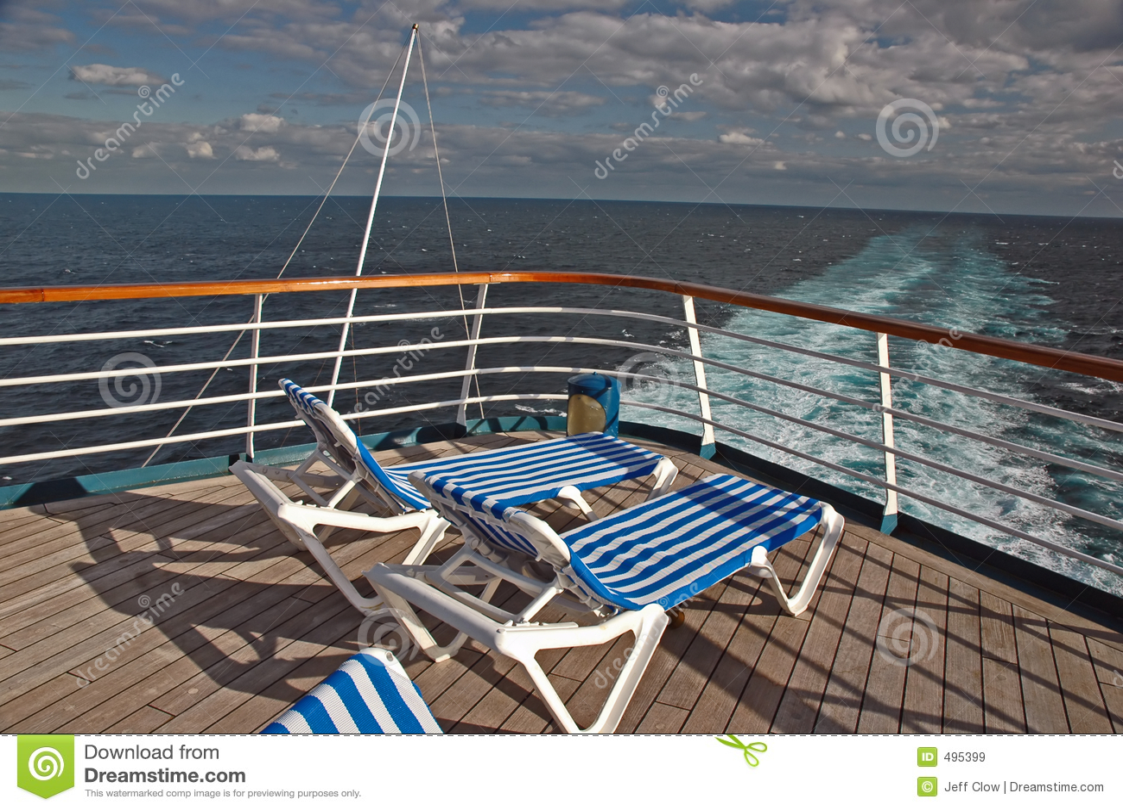 Empty Cruise Deck