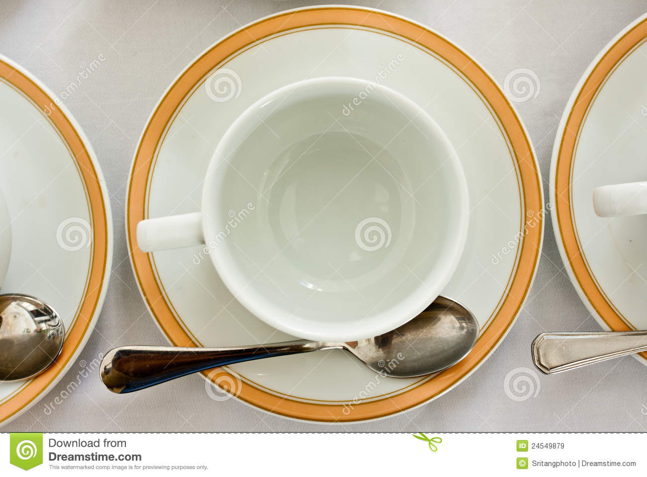 Empty Cup Top : Empty cup and saucer top view royalty free stock images