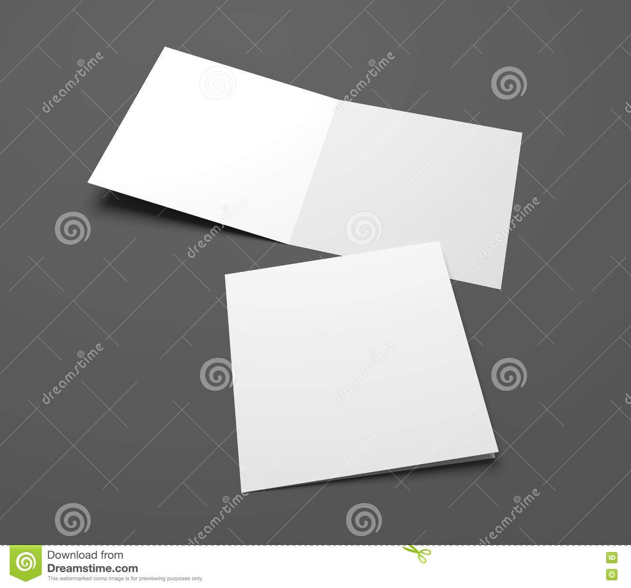 Empty 3d Illustration Open Square Greeting Cards Stock Illustration