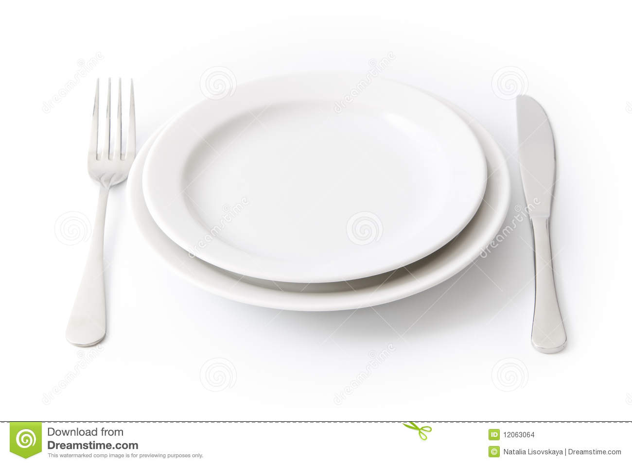 Empty dinner plate  sc 1 st  Dreamstime.com & Empty dinner plate stock photo. Image of white round - 12063064