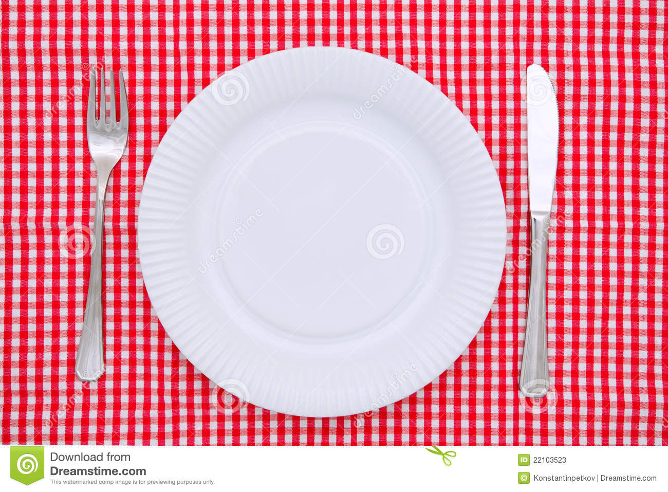 Empty Dinner Plate Stock Image Image Of Place Nobody
