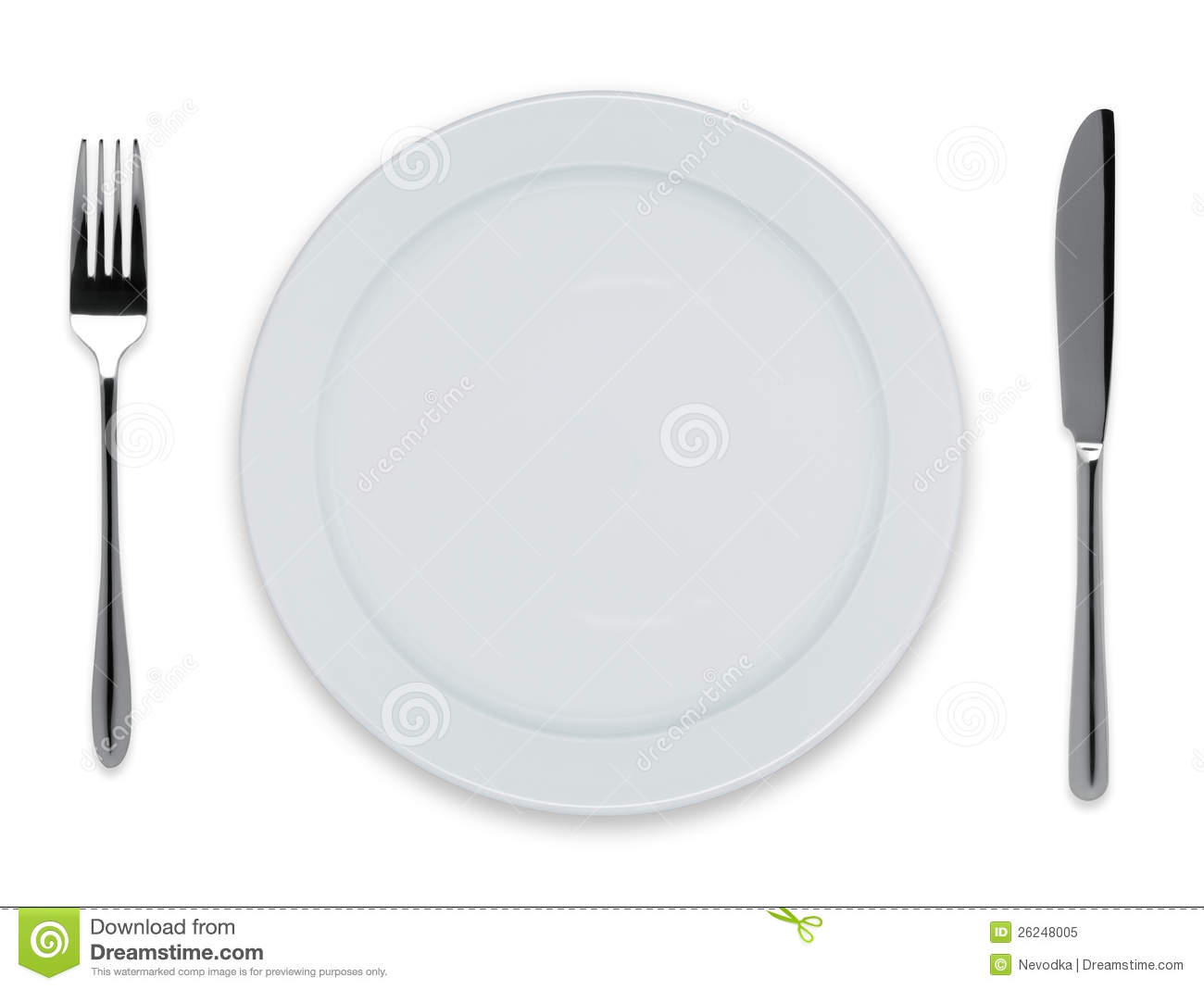 Empty Dinner Plate Royalty Free Stock Photo Image 26248005