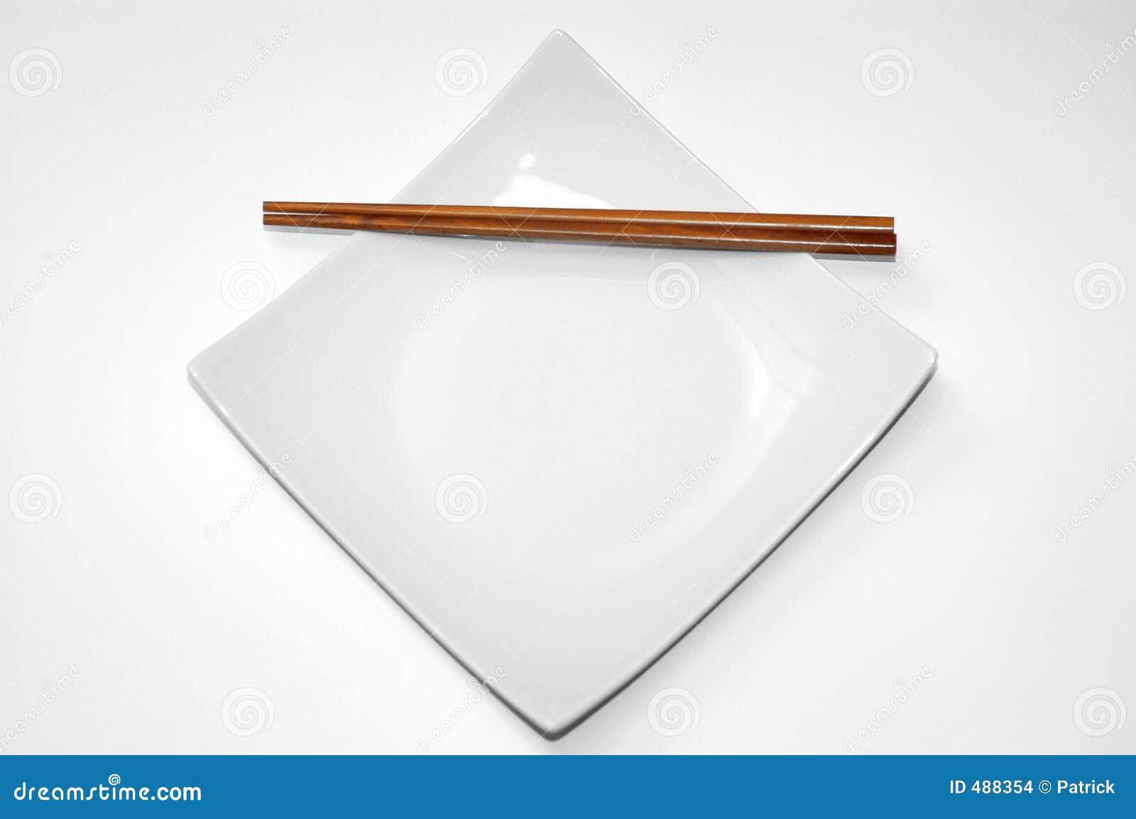 Empty dinner plate.