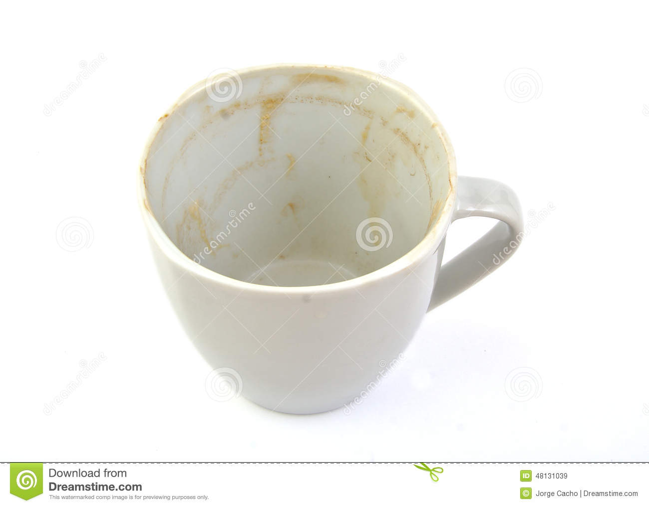 Empty And Dirty Coffee Cup Stock Photo Image 48131039