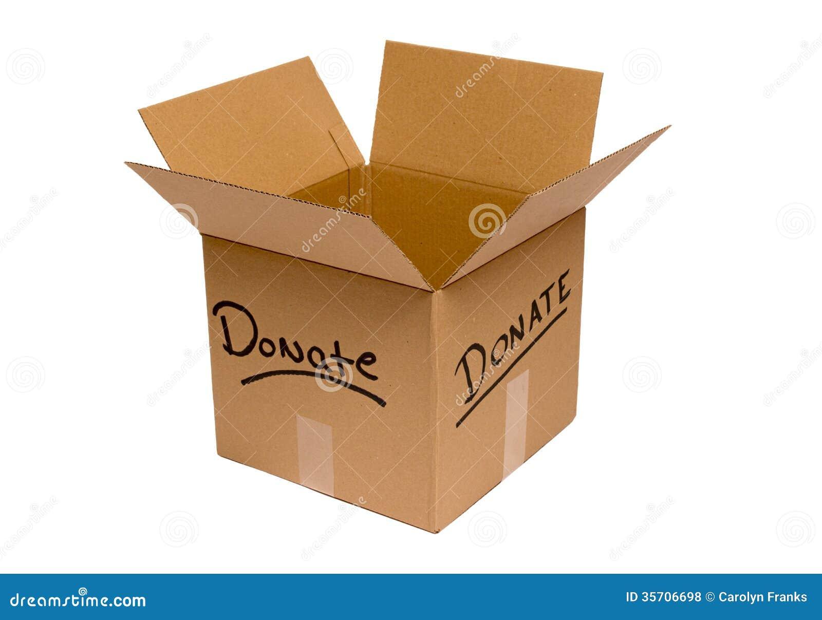 Empty Donation Box Isolated Royalty Free Stock Photos ...