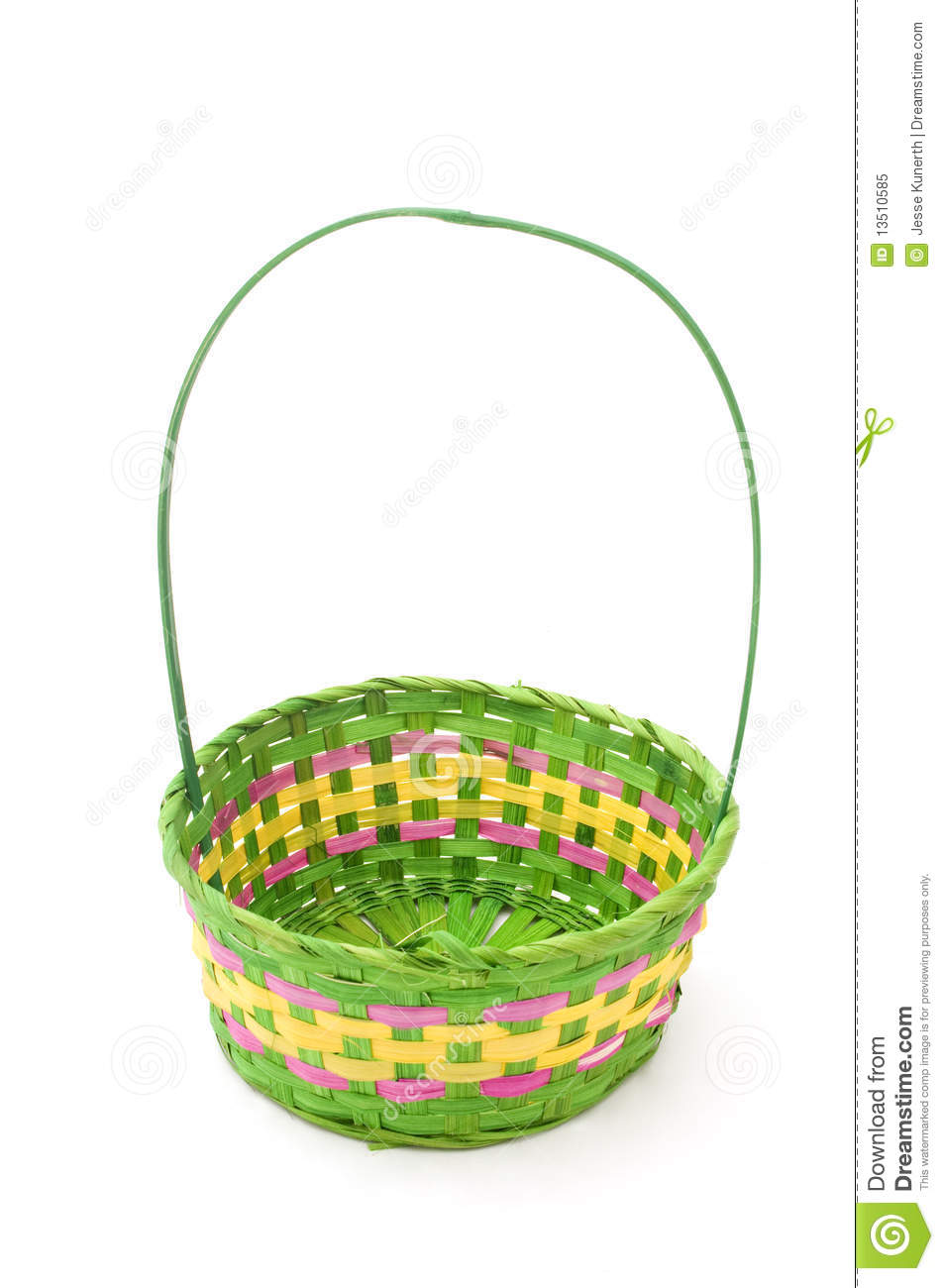 Empty Easter Basket Stock Image Of Handle April